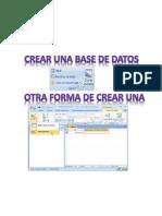 Crear Una Base de Datos