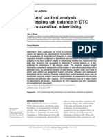 Beyond Content Analysis_Assessing Fair Balance in DTC Pharmaceutical Advertising