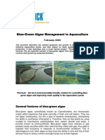 Blue-Green Algae Management in Aquaculture