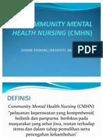 Community Mental Health Nursing (Cmhn)
