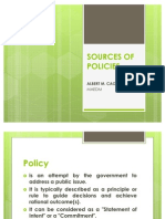 Sources of Policies