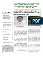 Quezonian Newsletter September 2011