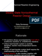 Steady State Non Iso Thermal Reactor Design