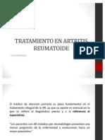 Tratamiento en Artritis Reumatoide