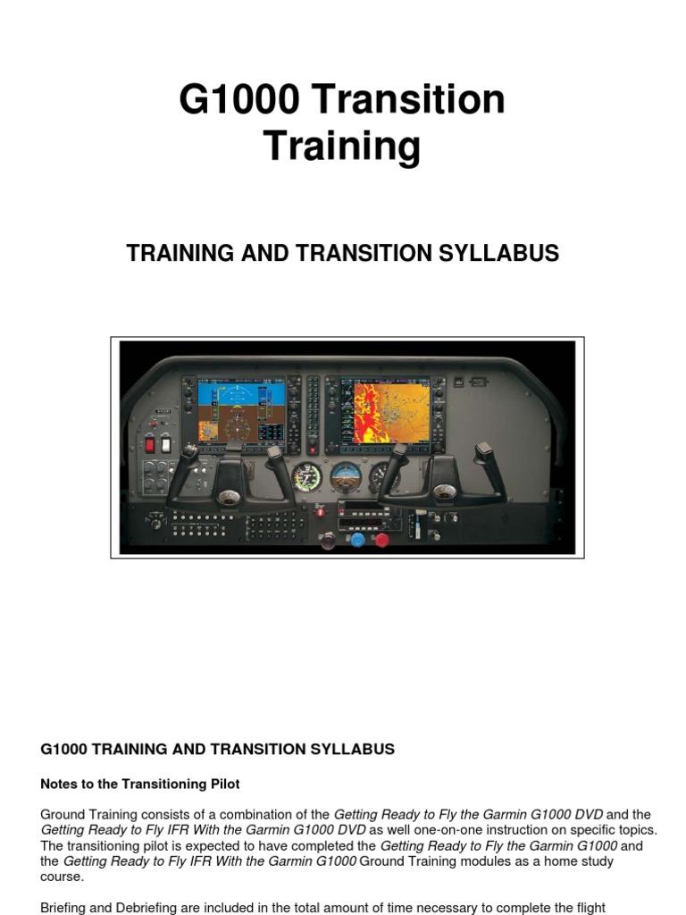 g1000 transition training syllabus instrument flight rules