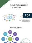 Erp Implementation Across Industries