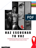 La participación de mujeres y trans en los procesos del Fondo Mundial en América Latina y el Caribe