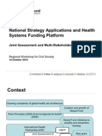 National Strategy Applications and Health Systems Funding Platform (Presentation)