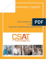 Civil Society Participation in Global Fund Country Coordinating Mechanisms