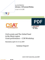 Civil Society and The Global Fund in the MENA Region Grant Performance-CCM Workshop