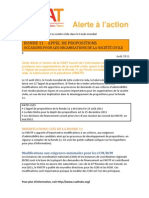 Alerte à l'action Août 2011:RONDE 11 – APPEL DE PROPOSITIONS