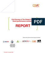 Workshop Report - Civil Society & The Global Fund