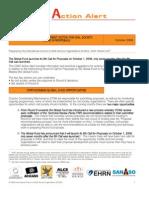 CSAT Action Alert - October 2008