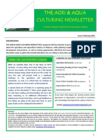 The Agri & Aqua Culturing Newsletter February 2012