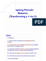 Graphing Periodic Behavior - Transforming the Sine Function 1