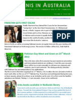 Pakistanis in Australia Vol 2issue 5 2012