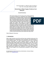 Efficiency and Ownership in Water Supply