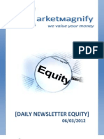 Daily Equity Report by Market Magnify 06-03-2012