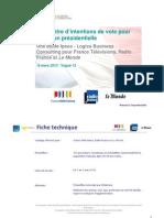 Ipsos Rapport Barometre Intention de Vote Vague12