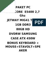 PAKET PC