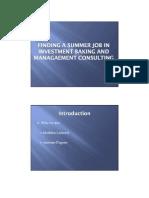 ECC Investment Banking Presentation