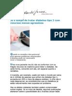 Já é Tempo de Tratar Diabetes Tipo 2 Com Recursos Menos Agressivos - Medicina Preventiva