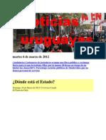 Noticias Uruguayas Martes 6 de Marzo de 2012