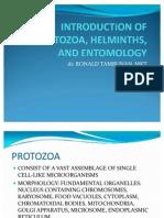 Introduction of Protozoa, Helminths And Entomology