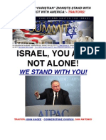 "TRAITORS! - ""CHRISTIAN"" ZIONISTS STAND WITH ISRAEL NOT WITH AMERICA! - TRAITORS!"