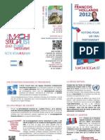 Flyer Presidentielle 2012