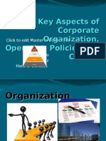 Key Aspects of Corporate Organization, Operating Policies