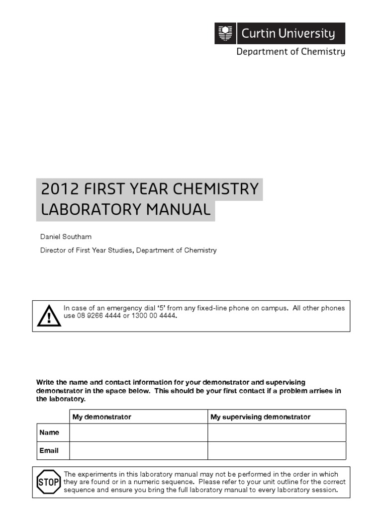 chem 101 lab manual titration physical sciences rh scribd com Chemistry Laboratory Testing Physical Chemistry Laboratory