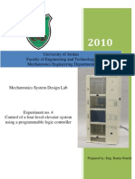 Control of a Four-level Elevator System Using a Programmable Logic Controller Experiment No. 4