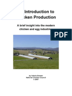Introduction to Vertically Integrated Chicken Production