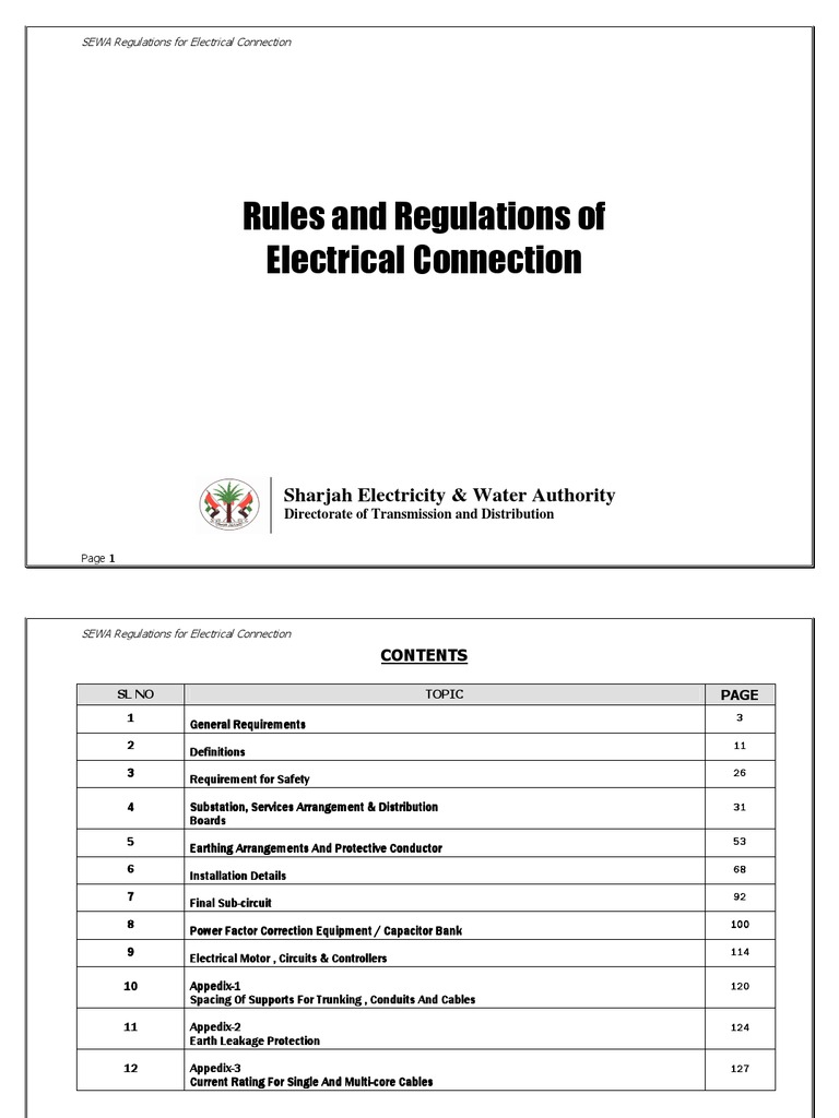 Sharjah Regulations   Electrical Wiring   Fuse (Electrical)