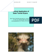 Practical Application of Solar Tunnel Dryers