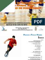 """Dossier Campus de tecnificación de Futbol Sala """"Ciudad de Torrevieja 2012"""""""