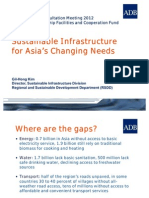 RSDD Presentation - Sustainable Infrastructure for Asia's Changing Needs