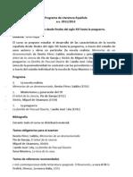 Programa de Literatura Española