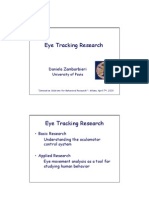 Basic Research on Eye Tracking