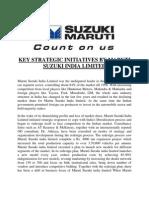 Key Strategic Initiatives by Maruti