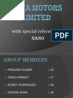 Tata Motors - Nano Tm