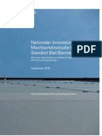 Machbarkeitsstudie Nationaler Innovationspark Biel/Bienne