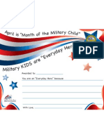 Kids Army Certificate of Appreciation