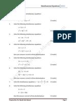 Simultaneous Equation 2012