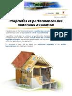 Proprietes Et Performances Thermiques Des Materiaux Oct10