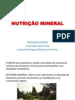 (9) NUTRIÇÃO MINERAL