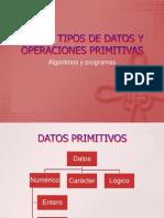Datos, Tipos de Datos y Operaciones Primitivas