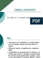 Describing Learners Motivation