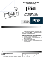 2287 MANUAL Ferroli 2510 2510TX Ro